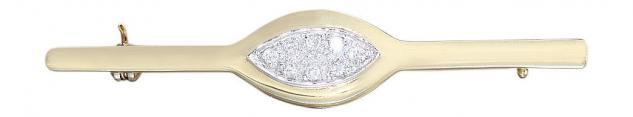 Goldbrosche - edle Brosche Gold 585 mit Brillanten Brillantbrosche - Top Design