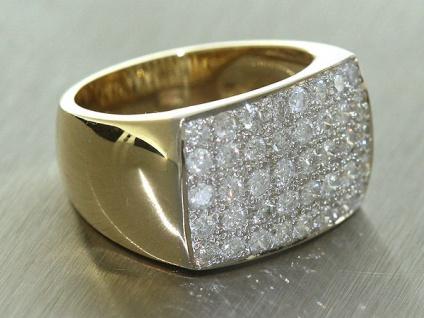 1 ct. exclusiver Brillantring Ring Gold 585 14 Karat Goldring 40 Brillanten