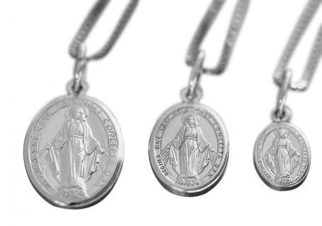 Kette u Anhänger Silber 925 Hl. Maria wundertätige Madonna Immaculata Milagrosa