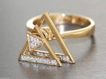 Ring Gold 585 - Technischer Ring in 14 kt Gold (585), drehbare Teile