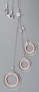 Schmuckset Kette Armband Ohrhänger Silber 925 Rotgold Silberkette Armkette Rose