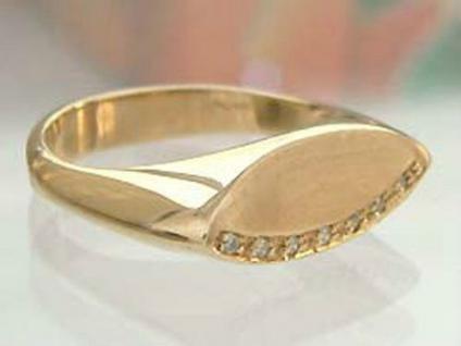 Brillantring - Ring Gold 585 mit sieben Brillanten - Goldring 14kt - Damenring