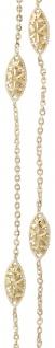 45 cm Collier Gold 750 mit Dekorteilen Goldkette Halskette 18 kt Gelbgold Kette