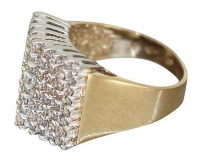 Breiter Brillantring Gold 585 mit 72 Brillanten 2 ct Goldring Damenring Gelbgold