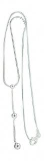 Schlangenkette Silber 925 massiv mit Kugelanhänger Silberkette Collier Anhänger