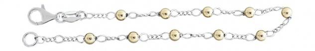 Kugelarmband Silber 925 Gold Bicolor Armband Armkette Kugelkette Damenarmband