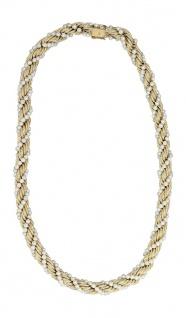 Goldkette 585 Collier Kordelmuster mit Perlen 62 gr. Halskette Gold 14 Kt.