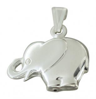 Zauberhafter Elefant Anhänger echt Silber 925 Silberelefant Silberanhänger