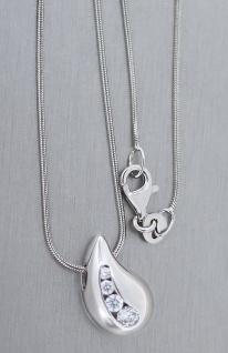 Super Blickfang Anhänger Silber 925 mit Zirkonias Silberanhänger Tropfen