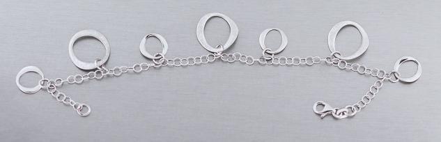 Elegantes Silberarmband 925 Armband Silber Bettelarmband Armkette - Damenarmband