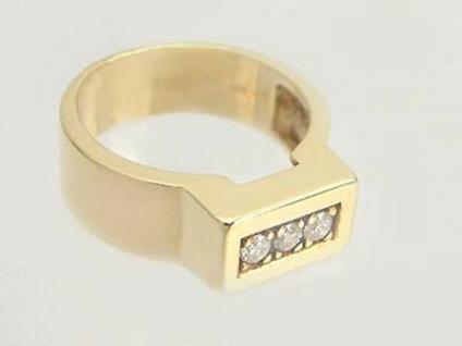 Schwerer Goldring 585 mit Brillanten 0, 18 ct. Brillantring Ring 14kt Gold massiv