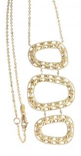 Collier Gold 750 Goldkette mit Design Anhänger Halskette 18 kt Gelbgold - 8, 1gr