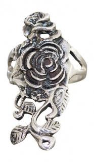 Ring große Rose - ausgefallener Silberring 925 - Rose Tracht - Rosenring Silber