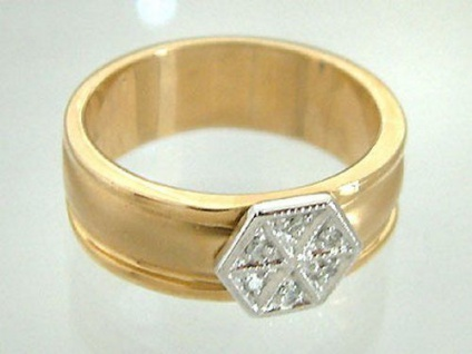 Brillantring Stern - Bandring Gold 585 mit Brillant - Goldring - Ring Gold 14 kt