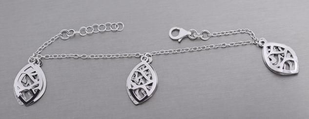 Tolles Armband Silber 925 mit Anhänger Silberarmband Armkette Damenarmband