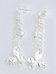 Ohrstecker Silber 925 mit Schmetterling Ohrschmuck Ohrhänger Silberohrstecker