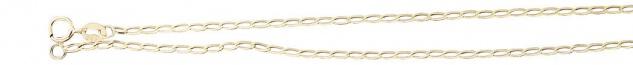 40 cm hochglänzende feine Goldkette 585 Halskette geschliffen Kette Gold massiv