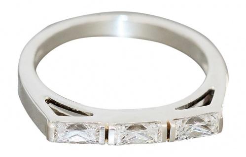 Ring Sterlingsilber 925 mit Zirkonias Damenring echt Silber Damenring