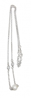 Kette Silber 925 Perle Zirkonias elegante Halskette Collier Damen
