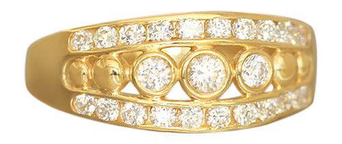 Exclusiver Goldring 750 mit Zirkonia - Ring echt Gold 18 kt - Damenring