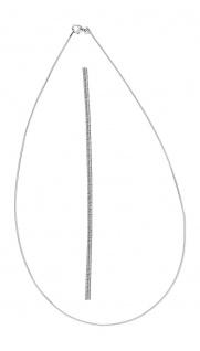 Feiner biegsamer Halsreif Silber 925 Silberkette 1, 1 mm Collier 42 / 45 cm