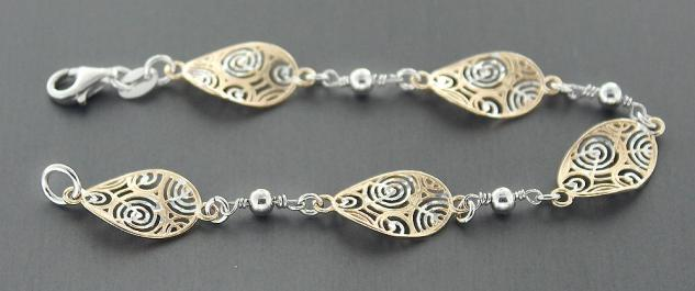 Designerarmband Silber 925 - Silberarmband - Armband Silber - Gold Armkette