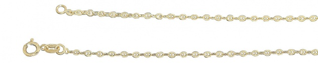 45 / 50 cm feine massive Goldkette 585 Ankerkette funkelnde Halskette Collier