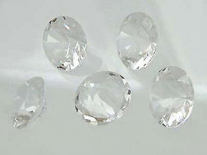 5 Bergkristalle im Brillantschliff Bergkristall 18 mm