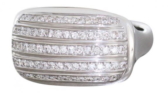 Luxus Weißgoldring 750 Brillantring 0, 65ct. Ring massiv 74 Brillanten 18 Kt. WG