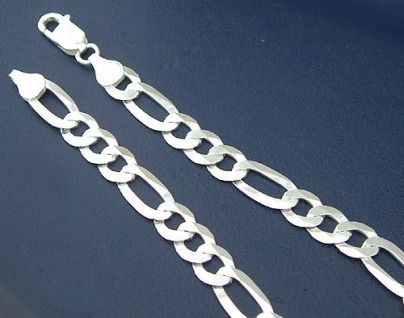 Figaroarmband - Armband Silber 925 massiv 21 cm Armkette