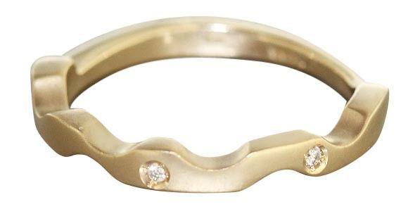 Goldring 585 massiv - moderner Ring in Gold 585 mit Brillanten - Brillantring