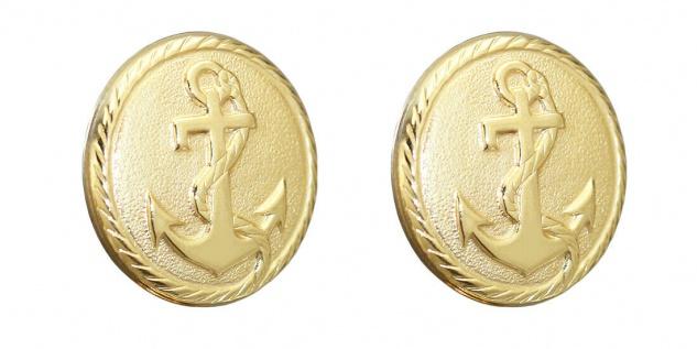 Knopfüberzug Gold 750 Anker Manschettenknöpfe 18 Karat 1 Paar