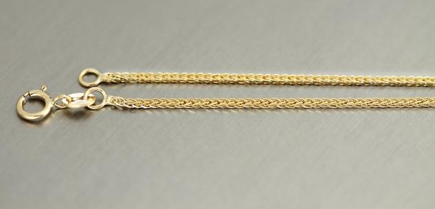 18 cm feines geschliffenes Goldarmband Gold 333 Zopfkette Armkette Armband 8 Kt