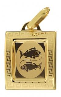 Sternzeichen Fische Gold 585 Anhänger 14 Karat Kettenanhänger Gelbgold