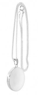 Medaillon Silber 925 Anhänger rund mit oder ohne Silberkette Himbeerkette