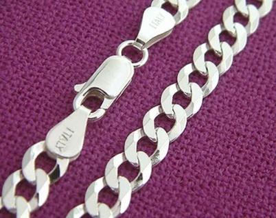 50 cm massive Panzerkette Silberkette 925 Halskette breite Kette Silber