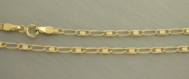 45 cm Goldkette 585 Halskette Kette echt Gold 14 Karat Collier Damen