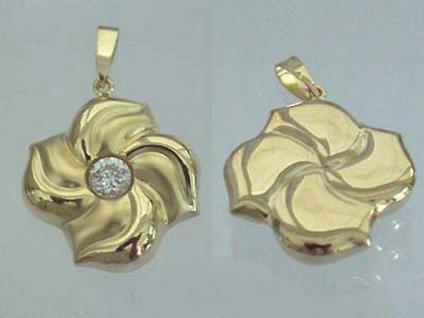 Blickfang!!! Edler Anhänger in Gold 375 - Blume - Goldanhänger - Goldblume 9 kt