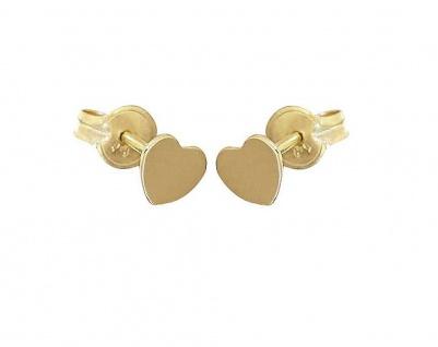 Kinder Ohrstecker Gold 585 Herzen Sehr kleine Herz Ohrstecker Ohrringe Mädchen