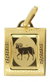 Sternzeichen Widder - Anhänger Gold 333 - Kettenanhänger Goldanhänger 8 Kt.