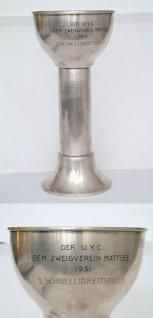 Union Yachtclub Mattsee 1931 großer Silberpokal 800
