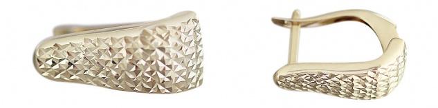 Klappcreolen Gold 585 funkelnd geschliffen Ohrringe Goldcreolen Goldohrringe