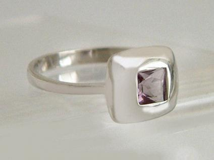 Silberring 925 Quadrat Amethyst Carree Ring Silber Designerring Top Design