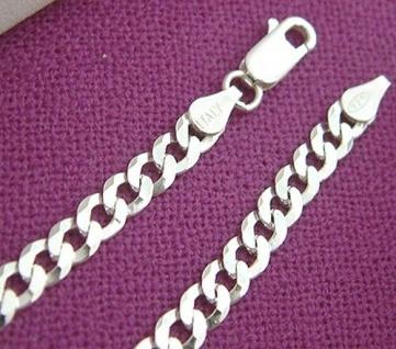 22 cm Panzerarmband Silber 925 - breites Armband Silberarmband massiv Armkette