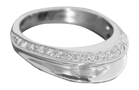 0, 30 ct. Brillantring Weißgold 750 Ring super Design Weißgoldring Damenring 18 K