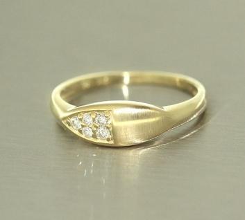 Brillantring Goldring 585 mit Brillanten 0, 12 ct. Ring Gold edles Design - Vorschau