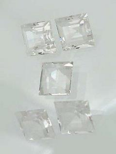 Bergkristall Carree 12 mm 5 echte Bergkristalle Bergkristallcarree