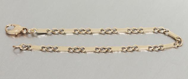 Armband in 8 kt Gold (333/000), 21 cm lang, Goldarmband 333