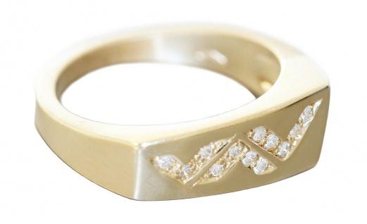 Ring Gold 585 Diamant Brillantring 0, 15 ct Damenring 14 Kt. massiv Super Design