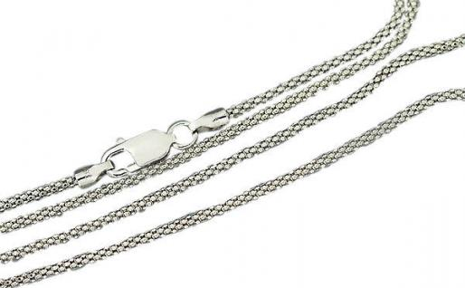 Silberkette 925 runde Halskette 50 cm Himbeerkette Kette mit Karabiner